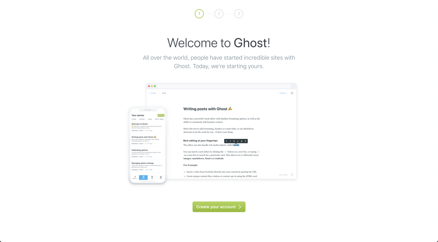 Ghost blog server deployed successfully!