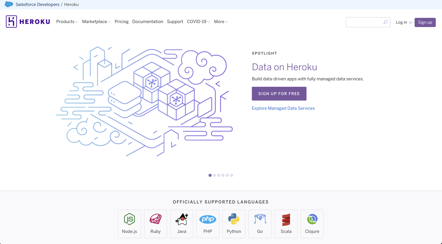 Heroku Official Website