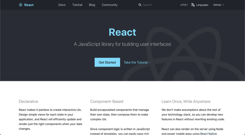 From React.js Official Website