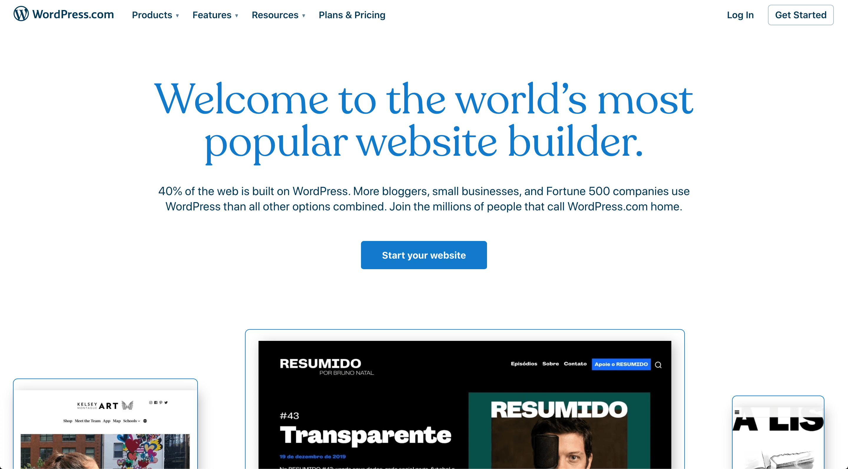 WordPress's Official Website